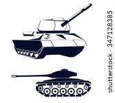 stylized military tank | Shutterstock .eps vector #347128385