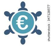 euro collaboration glyph icon.... | Shutterstock . vector #347128577