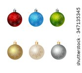 christmas ornaments colorful... | Shutterstock .eps vector #347135345