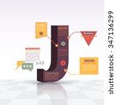 3d style letter j flat... | Shutterstock .eps vector #347136299