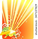open magical gift vector... | Shutterstock .eps vector #347137829
