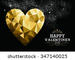 happy valentines day love... | Shutterstock . vector #347140025