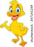 Cartoon Funny Duck Presenting...