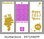 vertical happy new year banners ... | Shutterstock .eps vector #347144699