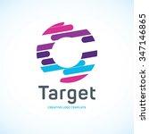target logo. business logo.... | Shutterstock .eps vector #347146865
