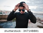 portrait of  style black man on ... | Shutterstock . vector #347148881