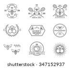 honey labels vector set | Shutterstock .eps vector #347152937
