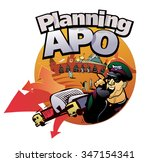 advanced planning and...   Shutterstock .eps vector #347154341