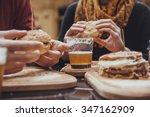 Hipster Friends Fast Food Restaurant - Fine Art prints