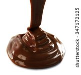 melted milky brown chocolate... | Shutterstock . vector #347172125