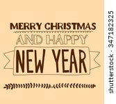 vector image of merry christmas ... | Shutterstock .eps vector #347182325