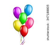 bunch of balloons in different... | Shutterstock .eps vector #347188805