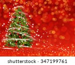 christmas tree from the xmas... | Shutterstock . vector #347199761