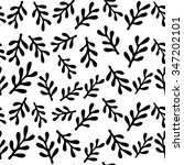 leaves seamless floral pattern... | Shutterstock .eps vector #347202101