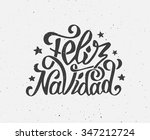 feliz navidad text on vintage... | Shutterstock .eps vector #347212724