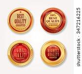 gold labels vector set. | Shutterstock .eps vector #347216225