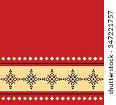 eastern folk pattern design | Shutterstock .eps vector #347221757