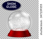 red snow globe transparent and... | Shutterstock .eps vector #347239355