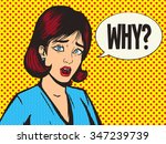 girl scream pop art style... | Shutterstock . vector #347239739