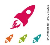 rocket . vector icon 10 eps | Shutterstock .eps vector #347246231