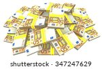 pile of euro banknotes  50 | Shutterstock . vector #347247629