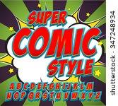 alphabet collection set. comic... | Shutterstock .eps vector #347248934