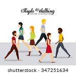 people walking design  vector... | Shutterstock .eps vector #347251634
