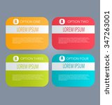 business infographics tabs... | Shutterstock .eps vector #347263001