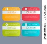 business infographics tabs... | Shutterstock .eps vector #347263001