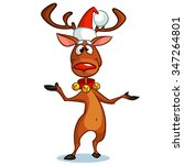 Christmas Reindeer Rudolph Red...