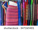 thai silk. | Shutterstock . vector #347265401