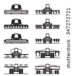 agricultural machinery icon set ... | Shutterstock .eps vector #347272721