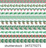 christmas border patterns | Shutterstock .eps vector #347275271