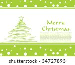 green tree pattern greeting... | Shutterstock .eps vector #34727893