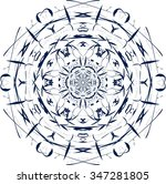 mandala. vintage decorative... | Shutterstock .eps vector #347281805