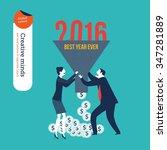 businessman and businesswoman... | Shutterstock .eps vector #347281889