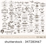 big set or collection of... | Shutterstock .eps vector #347283467