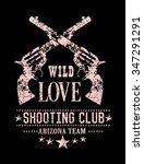 slogan print with gun details | Shutterstock . vector #347291291