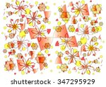 delightful  delicate  colorful  ... | Shutterstock . vector #347295929