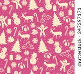 seamless pattern on vintage... | Shutterstock .eps vector #347297171