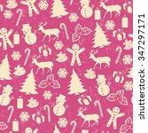 seamless pattern on vintage... | Shutterstock .eps vector #347297171