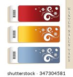 winter sales tags with... | Shutterstock .eps vector #347304581