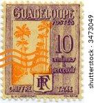Vintage World Postage Stamp Ephemera guadalupe(editorial) - stock photo