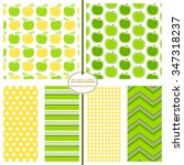 apple patterns with... | Shutterstock .eps vector #347318237