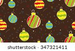 new year balls seamless hand... | Shutterstock .eps vector #347321411
