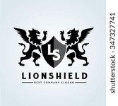 lion shield logo lion logo... | Shutterstock .eps vector #347327741