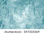 illustrated frozen ice texture | Shutterstock . vector #347333369