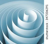 Blue 3d Spiral  Square Abstrac...
