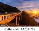 Sunset At Rocky Creek Bridge ...
