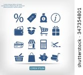 shopping icons | Shutterstock .eps vector #347354801